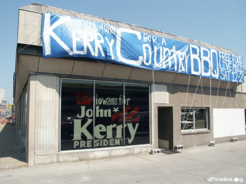 John Kerry Iowa Headquarters' in Des Moines